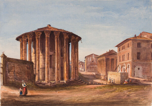 CRICHTON-STUART Lady James (Née Hannah Tighe) (1800-1872) - 'Temple of Vesta and Rienzi House'.