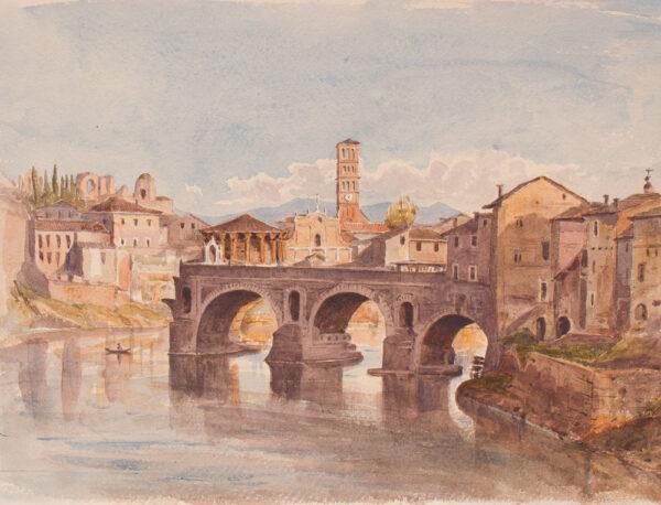 CRICHTON-STUART Lady James (Née Hannah Tighe) (1800-1872) - 'Ponte Rotto, Rome'.