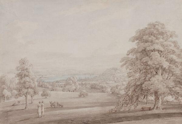 SUNDERLAND Thomas (1744-1823) - Lancashire: view to the sea from parkland.