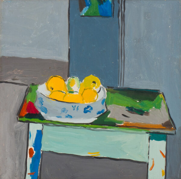SUTTON Philip R.A. (b.1928) - 'Still life on painting table'.