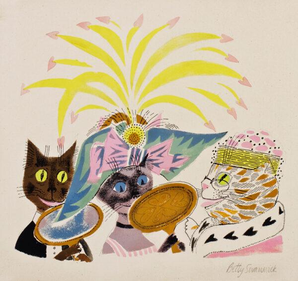 SWANWICK Betty R.A. (1915-1989) - 'The Fancy Hat'.