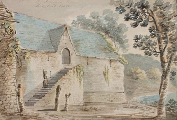 SWETE Rev John (1752-1821) - Cornwall: 'Budshead Barn'.