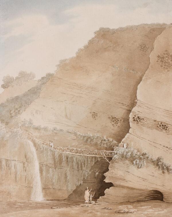 SWETE Rev. John (1752-1821) - Devon: tourists exploring the cliffs at Lydford.