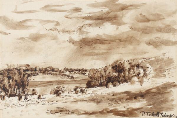 TCHELITCHEV Pavel (1898-1957) - Landscape.