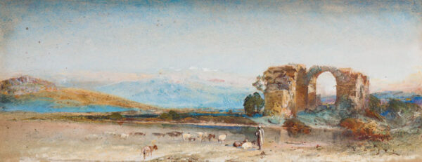 TELBIN William (1813-1873) - 'Holy Land, (?)odis on the road to Jerusalem'.