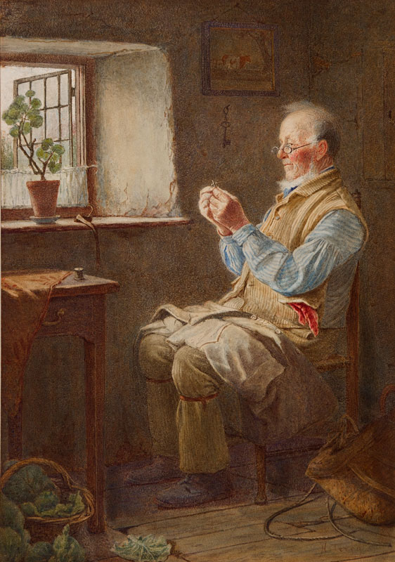 TERRY Henry (Exh: 1880-1914) - Living Alone.