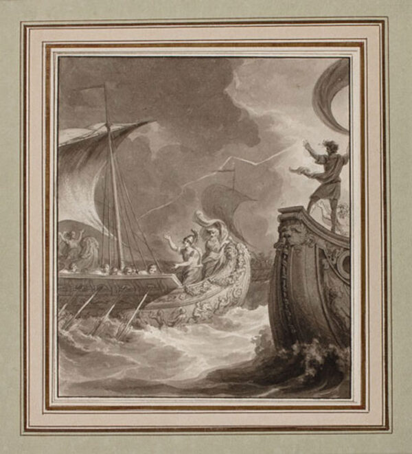 THURSTON John (1774-1822) - Pen, brush and ink en grisaille.