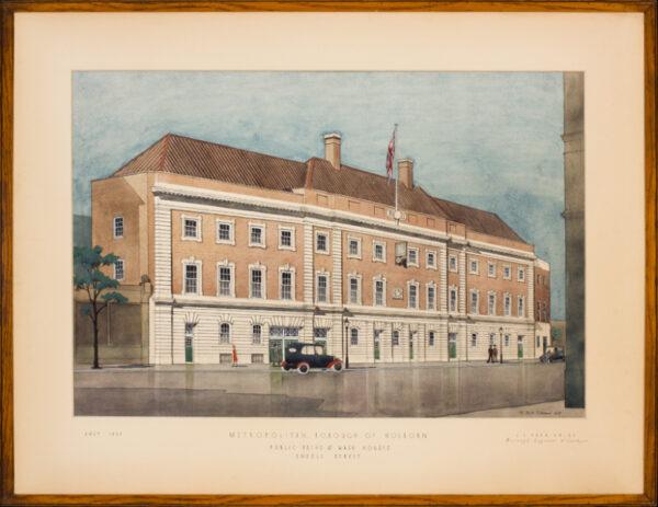 TIMMINS - 'Metropolitan Borough of Holborn/Public Baths and Wash Houses/Endell Street'.