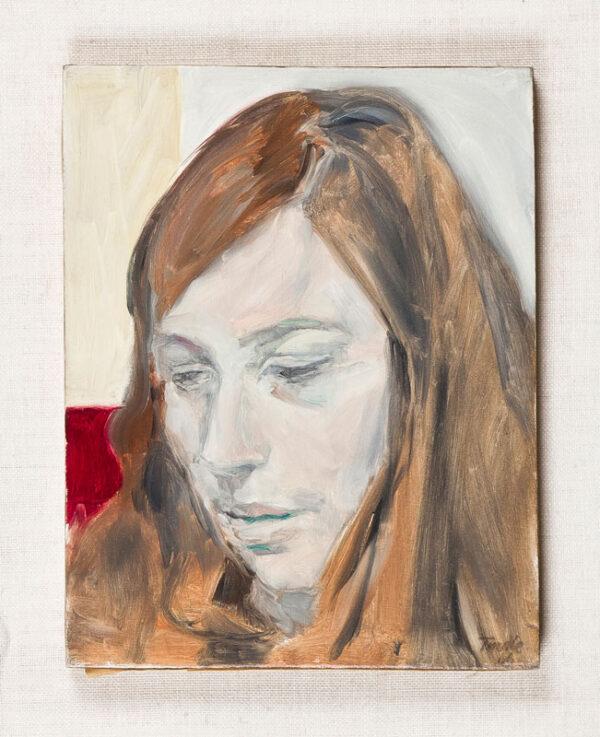 TINDLE David R.A. (b.1932) - 'Portrait of Janet'.