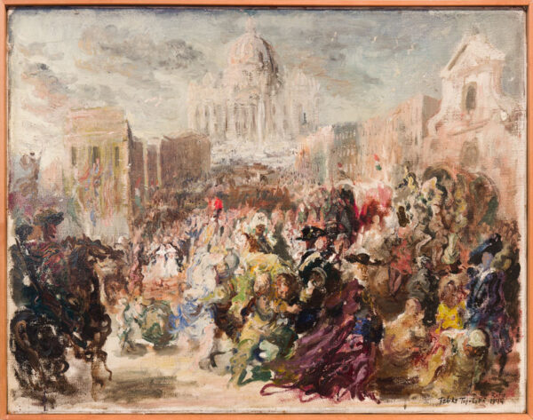 TOPOLSKI Feliks R.A. (1907-1989) - 'From Naples to Rome – Rome liberated'; the war artist was there for the Liberation of Rome in June 1944.