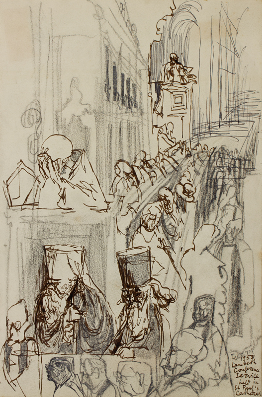 TOPOLSKI Feliks R.A. (1907-1989) - 'Lambeth Conference Service held in St Paul's Cathedral'.