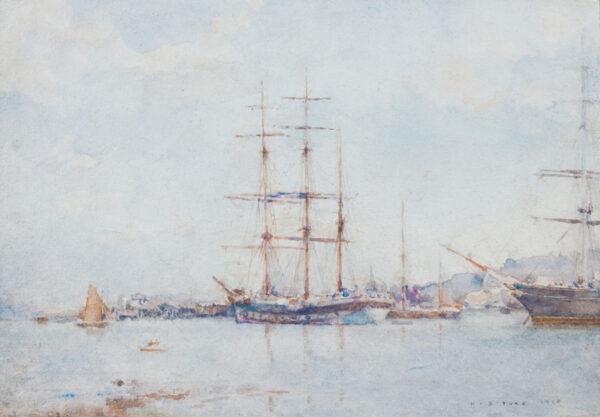 TUKE Henry Scott R.A. R.W.S. (1858-1929) - 'Falmouth Bay'.