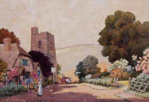 UDEN Ernest Boye (1911-1986) - 'In the Somerset Hills'.