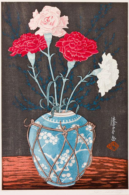 URUSHIBARA Yoshijiro (1888-1953) - 'Carnations'.