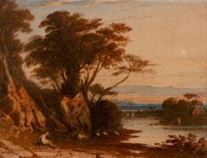 VARLEY John O.W.S. (1778-1842) - River landscape.