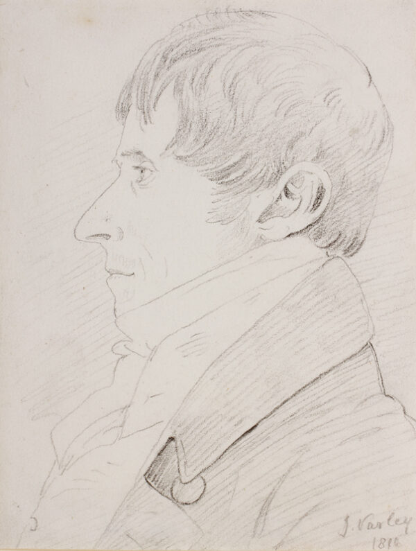 VARLEY John O.W.S. (1778-1842) - 'Joshua Cristall'.