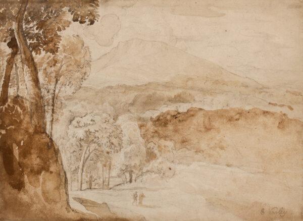 VARLEY Cornelius (1781-1873) - 'Welsh Mountain landscape'.