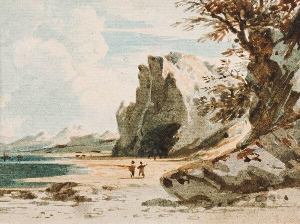 VARLEY John O.W.S. (1778-1842) - Figures on a beach.