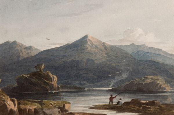VARLEY John O.W.S. (1778-1842) - Welsh lake.
