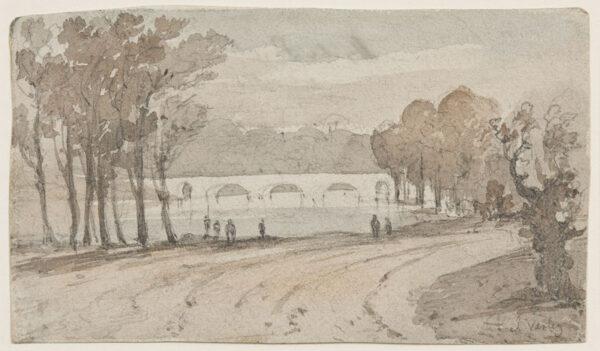 VARLEY John O.W.S. (1778-1842) - 'Hyde Park'.