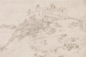 VARLEY Cornelius (1781-1873) - 'Harlech Castle'.
