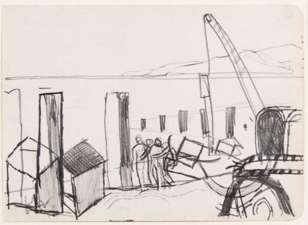 VAUGHAN Keith (1912-1977) - Coastal shapes.