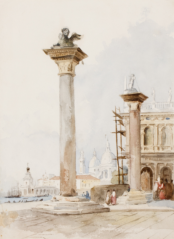 VERNEY (Lady) Frances Parthenope nee Nightingale (1819-1890) - The Piazzetta, Venice.
