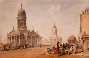 VICKERS Alfred Gomersal (1810-1837) - Berlin: the Gendarmenmarkt with the French and the German Cathedrals.