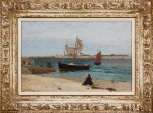 VILLETTE Elodie La (1841-1917) - 'Bateaux', Portivy.