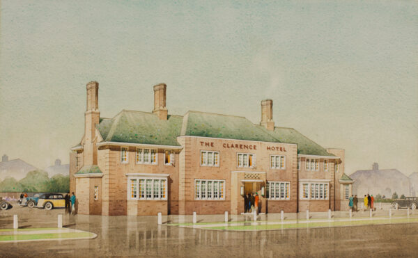 WADDINGTON Frank (fl.1930s) - 'The Clarence Hotel / Blackpool / for Charles Westwell Esq'.