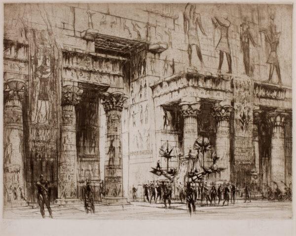 WALCOT William R.E. (1874-1943) - Egyptian Temple.