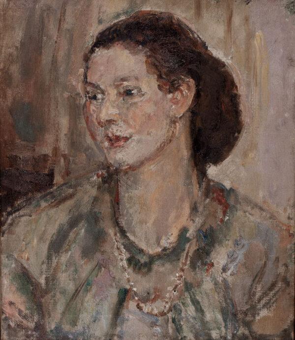 WALKER Dame Ethel N.E.A.C. (1861-1951) - Head of a girl.