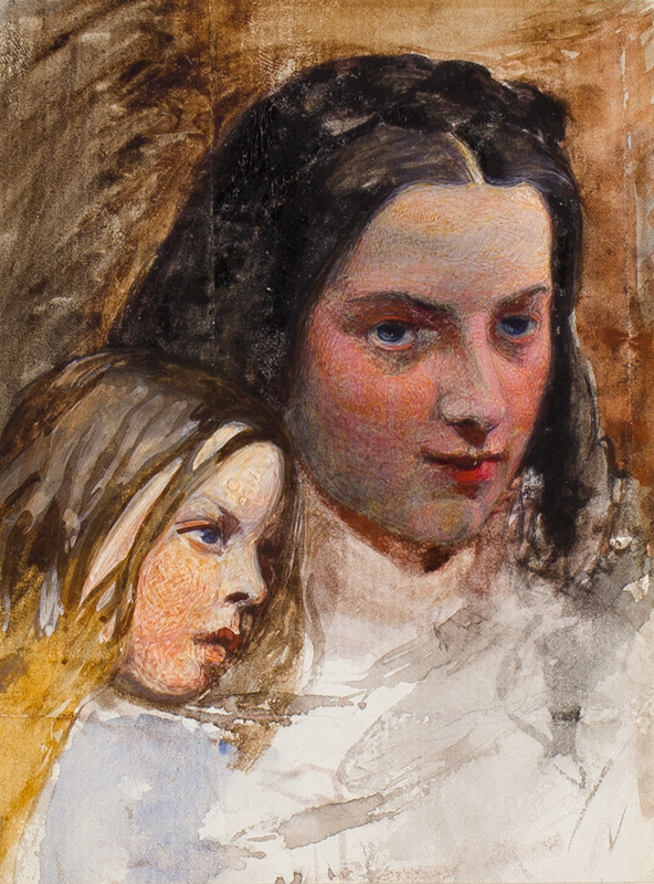 WALKER Fred A.R.A. (1840-1875) - The Sisters.