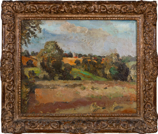 WALTON Allan (1891-1948) - Suffolk landscape: 'Towards Newbourne'.