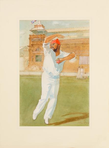 WARD John Stanton C.B.E. (1917-2007) - 'Bishan Singh Bedi'.
