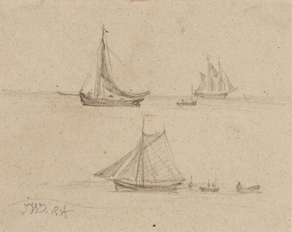 WARD James R.A. (1769-1859) - Studies of fishing boats.