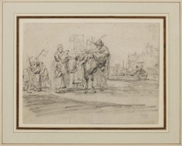 WARD James R.A. (1769-1859) - Figures around a donkey.