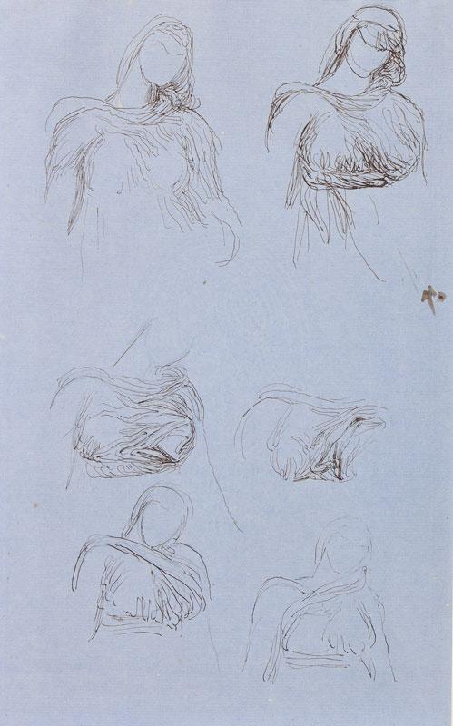 WATTS George Frederick R.A. O.M. (1817-1904) - Figure studies.