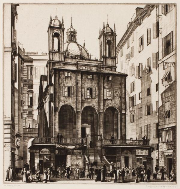 WEDGWOOD Geoffrey (1900-1977) - 'St Peter's, Genoa'.