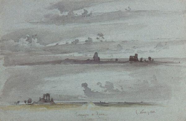 WERNER Carl (1808-1894) - 'Campagna di Roma'.