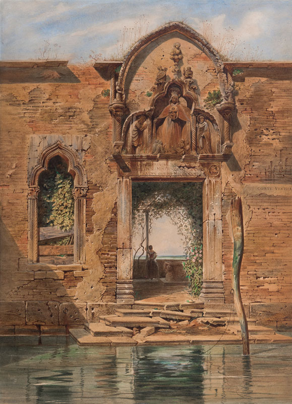 WERNER Carl (1808-1894) - The Old Courtyard, Venice.