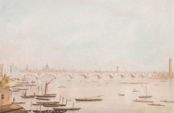 WESTALL William A.R.A. (1781-1850) - London: Waterloo Bridge.