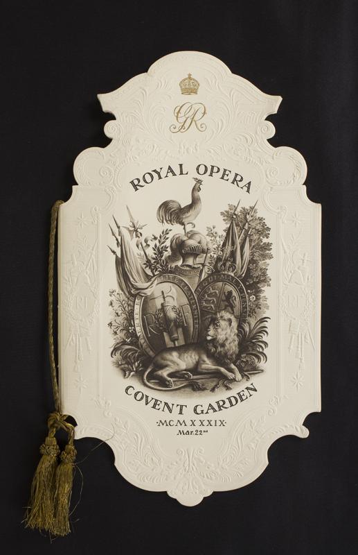 "WHISTLER Rex (1905-1944) - Printed program for the Royal Opera House State Performance for the French President""https://abbottandholder-thelist."