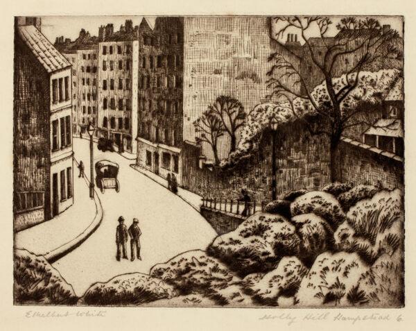 WHITE Ethelbert N.E.A.C. R.W.S. L.G. S.W.E. (1891-1972) - 'Holly Hill, Hampstead'.