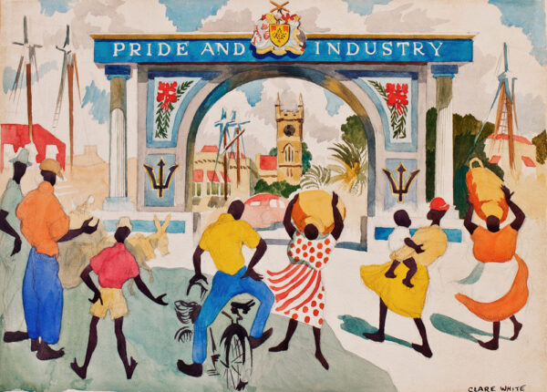 WHITE Clare (1902-1977) - Bridgetown, Barbados: 'Pride and Industry'.