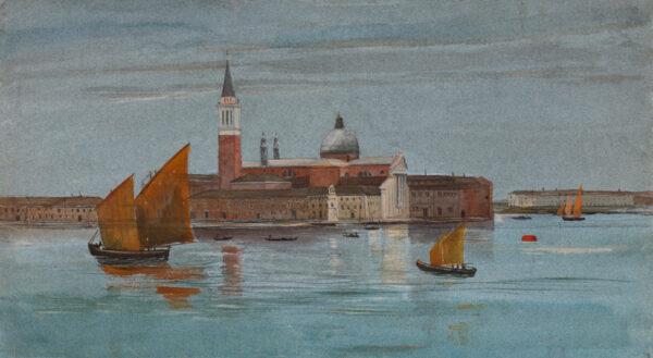 WIDDRINGTON Shalcross Fitzherbert Jacson (1826-1917) - San Giorgio Maggiore from the Campanile of St Marks.