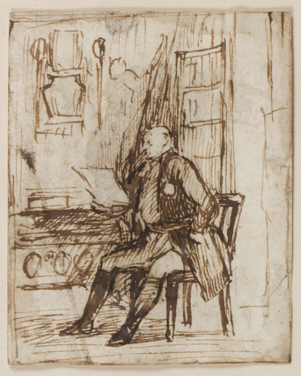 WILKIE Sir David R.A. (1785-1841) - Study for 'Frederick Duke of York reading dispatches' (London NPG).