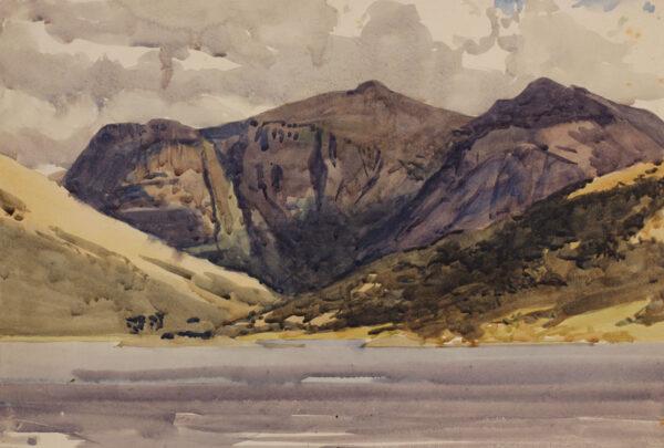 WILKINSON Norman P.R.I. (1878-1971) - Landscape study, North Wales.