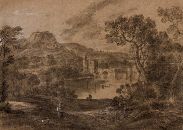 WILSON Richard R.A. (1714-1782) (Circle of) - Capriccio landscape.