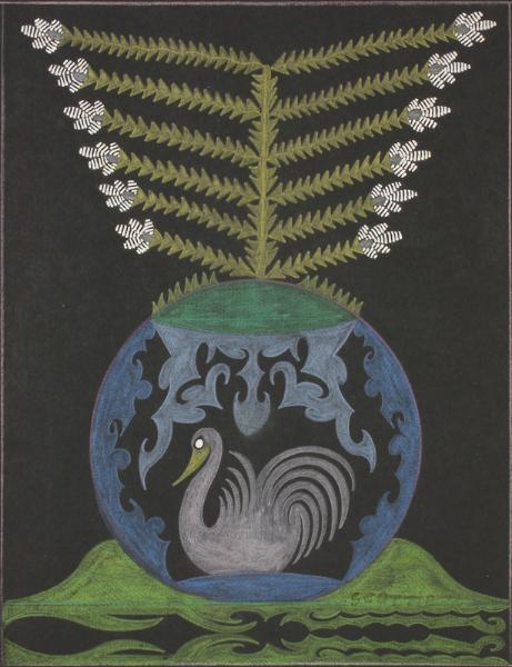 WILSON Scottie (1889-1972) - The Swan Vase.